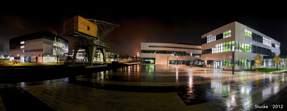 Rhine-Waal University campus at night |by Stucke